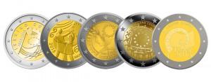 Entwürfe zur 2 Euro-Gemeinschaftsausgabe 2015, die zur Wahl standen