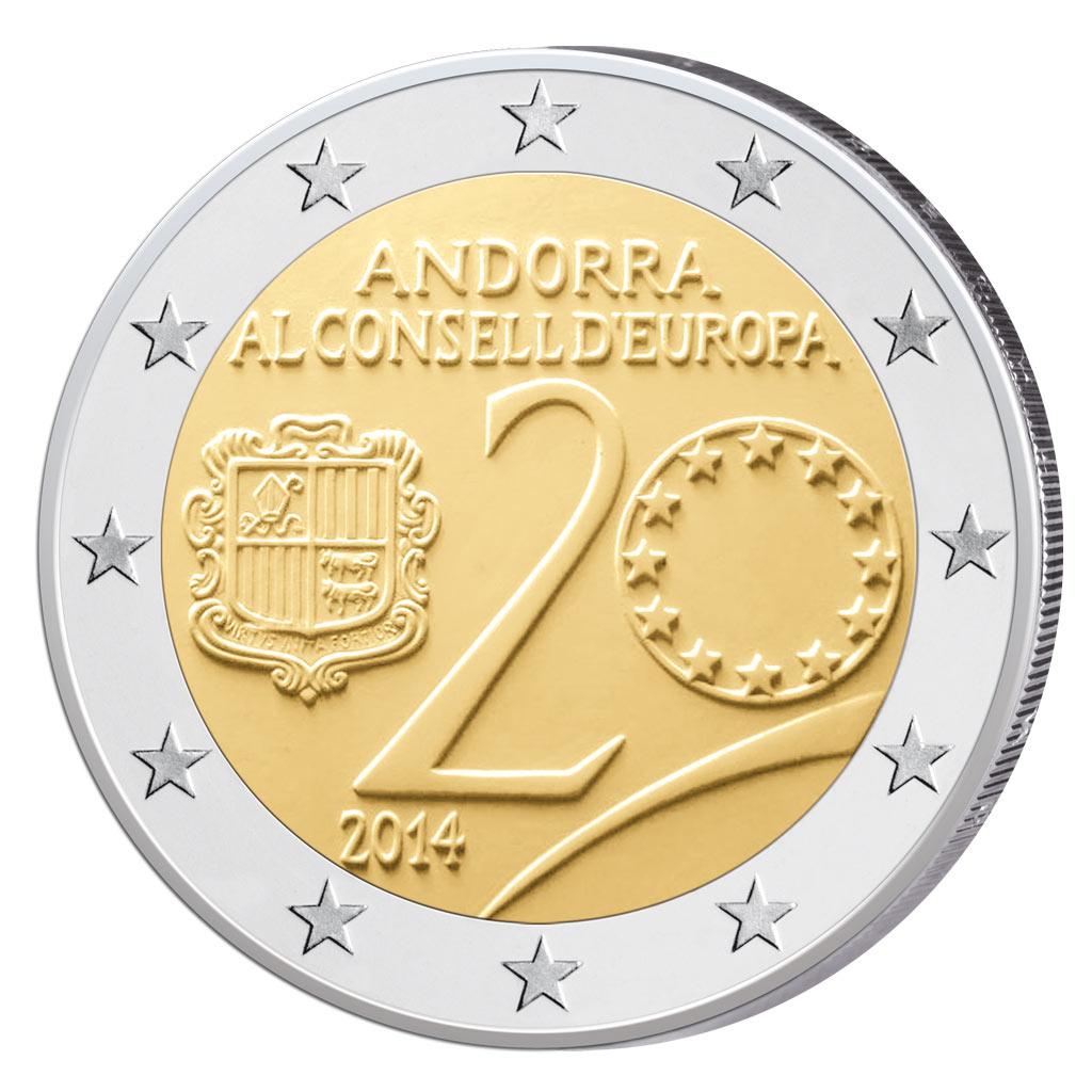 Andorra 2 Euro Münzen Raritäten Phantome überraschungen Primus