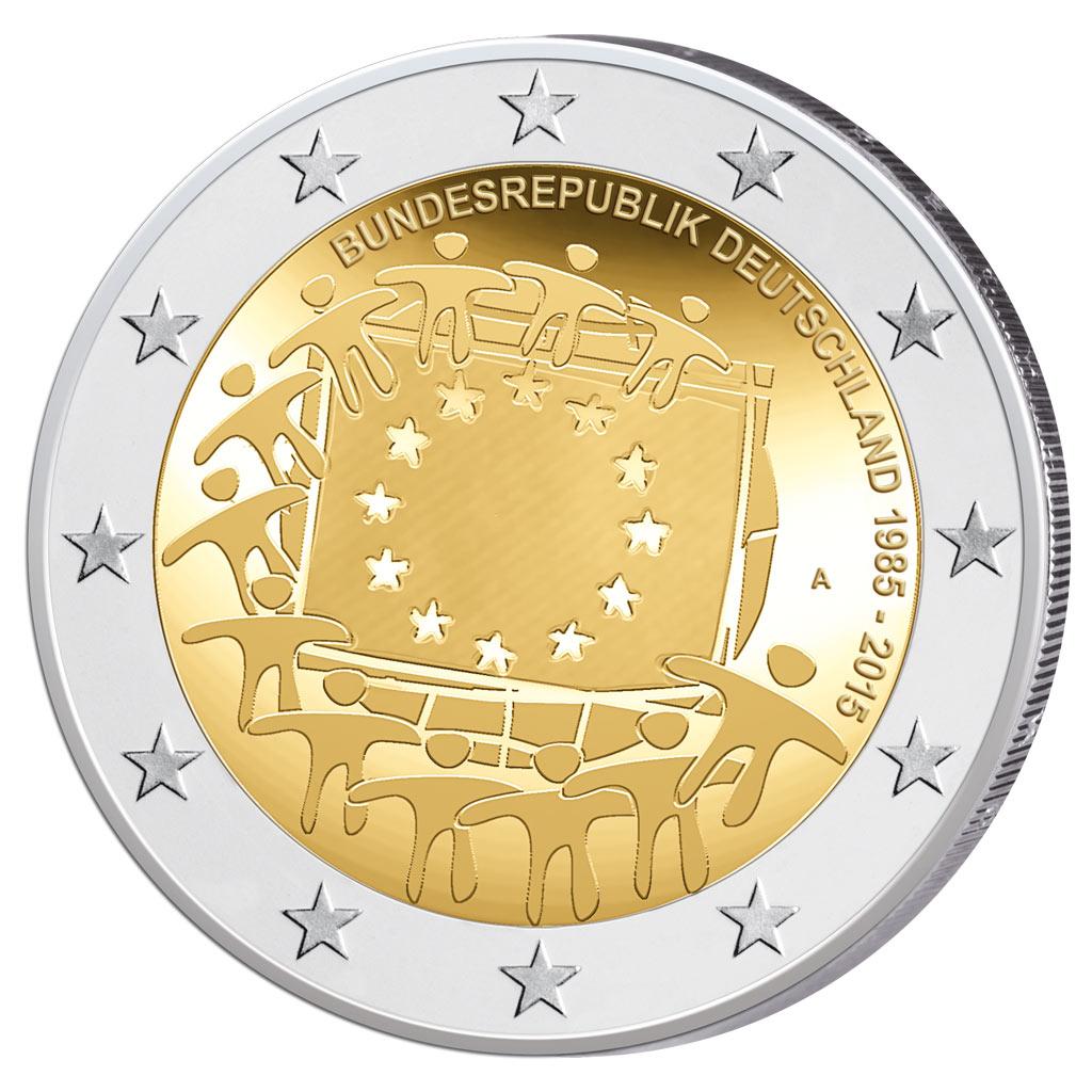 2 Euro Münzen Wert Bundesrepublik Deutschland Ausreise Info