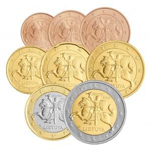 Neues Euro-Land 2015 Litauen - der erste Euromünzen-Jahrgang