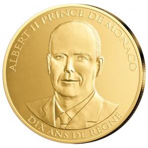 "Monaco 100 Euro-Goldmünze 2015 ""Thronjubiläum"""