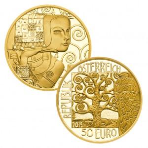 """""""Münze des Jahres"""": Österreich 50 Euro Gold """"Klimt und die Frauen – Die Erwartung"""""""