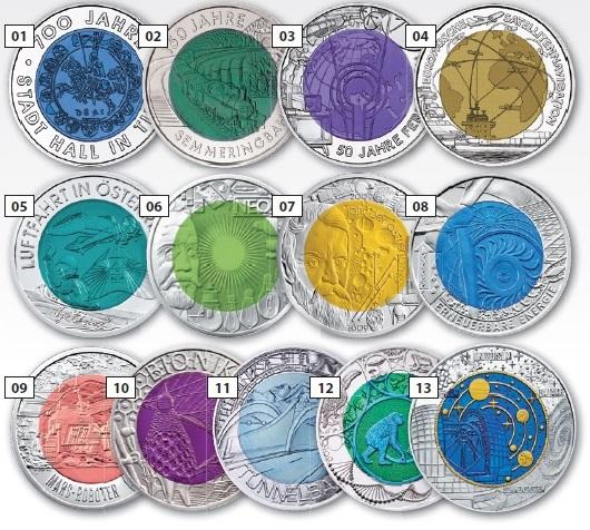 österreich 25 Euro Silber Niob 2017 Der Mikrokosmos Primus