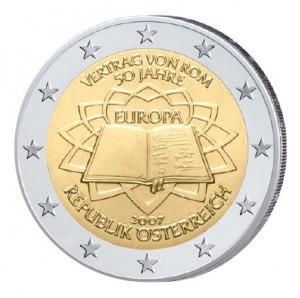 Motiv der 2 Euro-Gemeinschaftsausgabe 2007 50. Jahrestag der Unterzeichnung der Römischen Verträge