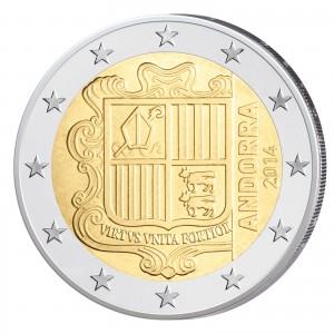Andorra 2 Euro-Kursmünze 2014 Wappen