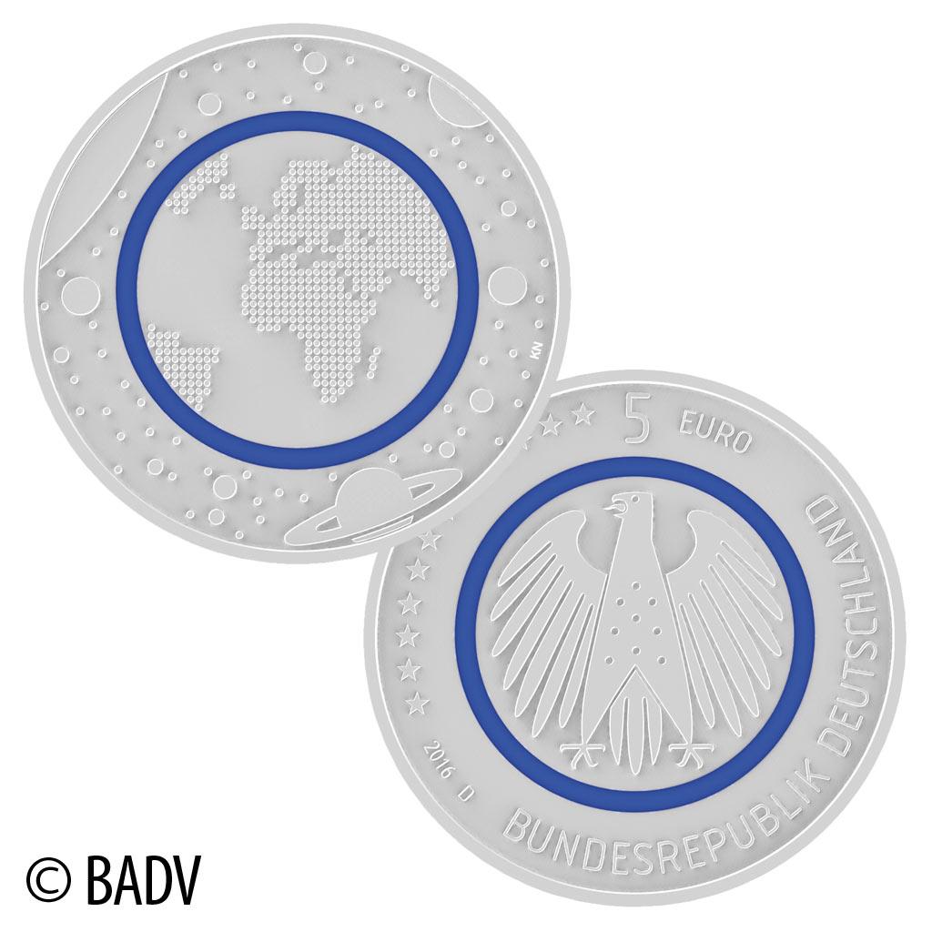 14 April 2016 Offizieller Ausgabetag Der Brd 5 Euro Münze 2016