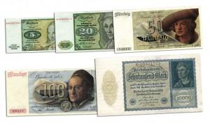 Deutsche Banknoten mit Dürer Motiven