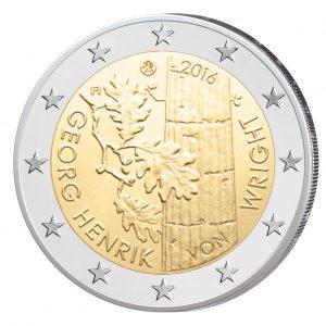 Finnland 2 Euro-Gedenkmünze 2016 - 100. Geburtstag des Philosophen Georg Henrik von Wright