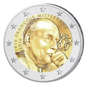 """Frankreich 2 Euro-Gedenkmünze 2016 """"100. Geburtstag François Mitterrand"""""""
