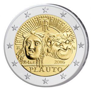 Italien 2 Euro-Gedenkmünze 2016 – 2.200. Todestag von Titus Maccius Plautus