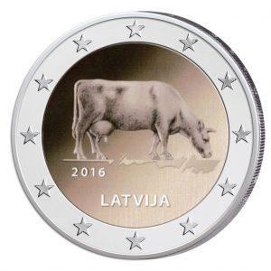 Lettland 2 Euro-Gedenkmünze 2016 – Milchwirtschaft
