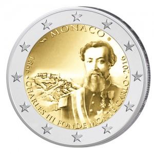 Monaco 2 Euro-Gedenkmünze 2016 - 150. Jahrestag der Gründung Monte Carlos durch Charles III.