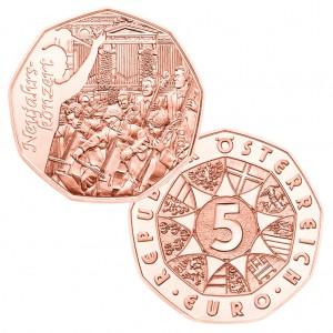 Österreich 5 Euro Kupfer 2016 Neujahrskonzert