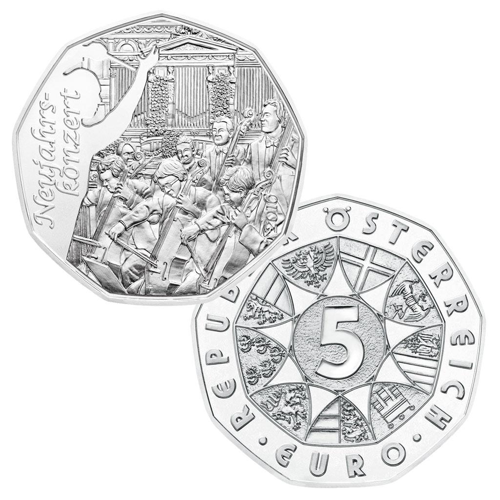 österreichs Erste Münze Des Sammlerjahres 2016 Die 5 Euro