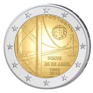 Portugal 2 Euro-Gedenkmünze 2016 – 50 Jahre Brücke des 25. April (Ponte 25 de Abril)