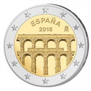 Spanien 2 Euro-Gedenkmünze 2016 – Altstadt und Aquädukt von Segovia