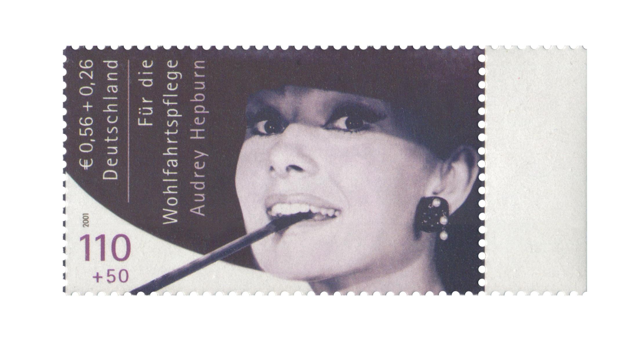 Unverausgabte Hepburn Briefmarke 2001 Der Brd Bei Ebay Für über