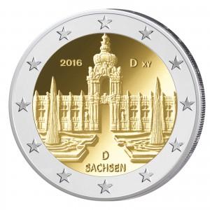 Deutschland 2 Euro-Gedenkmünze 2016 – Bundesländer-Serie: Sachsen, Dresdner Zwinger