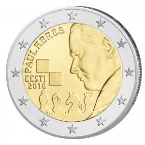 """Estland 2 Euro-Gedenkmünze 2016 """"100. Geburtstag von Paul Keres"""