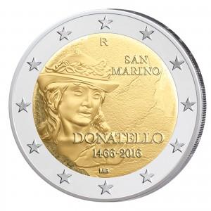 San Marino 2 Euro-Gedenkmünze 2016 – 550. Todestag von Donatello