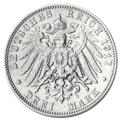 Die Wertvollsten Münzen Sachsen 3 Mark 1917 Friedrich Der Weise