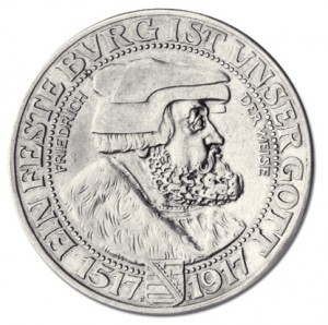 Sachsen 3 Mark 1917 Friedrich der Weise