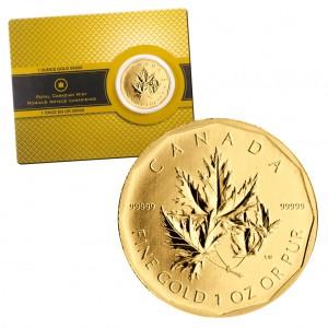 Kanada 200 Dollars 2007 Super Maple, 999,99er Gold, 31,103 Gramm (1 Unze), Ø 30,1mm