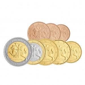 Litauen Euro-Satz 1 Cent bis 2 Euro