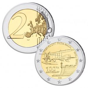 Malta 2 Euro-Gedenkmünze 2015 – 100. Jahrestag des ersten Flugs von Malta