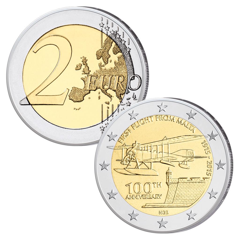 13 Februar 1915 Erster Flug Von Malta Primus Münzen Blog