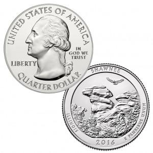 USA Quarter Dollar Shawnee National Forest - 5 Unzen Silbermünze 2016