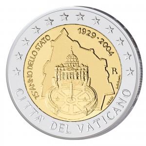 2 Euro-Gedenkmünze 2004 75 Jahre Vatikanstadt