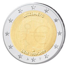 Luxemburgs Ländervariante der 2 Euro WWU mit Multi-View-Minting