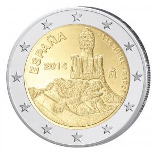 Spanien 2 Euro-Gedenkmünze 2014 – 100 Jahre Park Güell – Antoni Gaudi