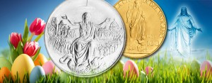 Vatikan, Ostern: Auferstehung von Jesus Christus als numismatisches Thema