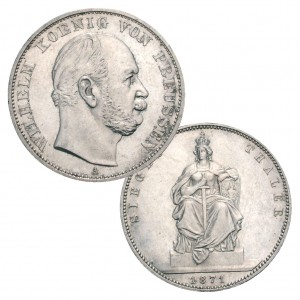 Preußen Siegestaler 1871, 900er Silber, 18,52g fein, Ø 33mm