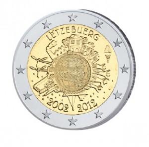 """Luxemburg 2 Euro-Gemeinschaftsausgabe 2012 mit speziellem Prägeverfahren """"Multi-View-Minting"""""""