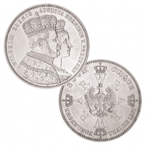Preußen, Krönungstaler 1861, 900er Silber, 18,52g, Ø 33mm