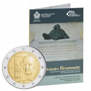San Marino 2 Euro-Sondermünze 2014 500. Todestag von Donato Bramante