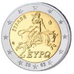 """Griechenland 2 Euro-Kursmünze 2002 """"Europa mit Stier"""""""