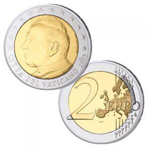 Vatikan 2 Euro-Kursmünze 2003 Papst Johannes Paul II.