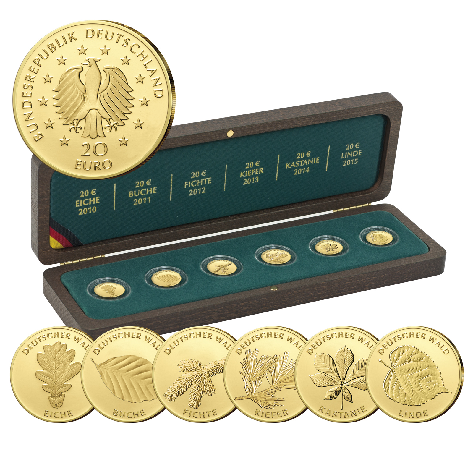 Deutschlands Euro Gold Brd 20 Euro Gold 2016 Nachtigall übersicht