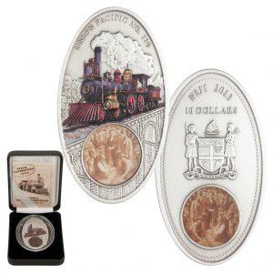 Fidschi 10 Dollars Silbermünze 2013 Union Pacific