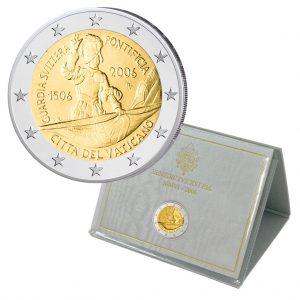 """Vatikan 2 Euro-Gedenkmünze 2006 """"500 Jahre Schweizer Garde"""""""