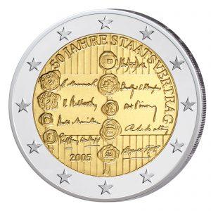 Österreich 2 Euro-Gedenkmünze 2005 - 50jähriges Jubiläum des Staatsvertrages
