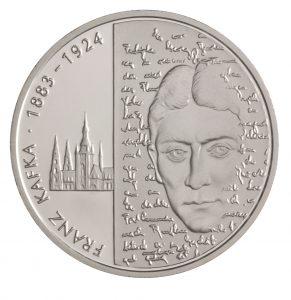 BRD 10 Euro 2008 125. Geburtstag des Schriftstellers Franz Kafka, 925er Silber, 18g, Ø 32,5mm; Prägestätte G, st Auflage: 1.500.000, PP Auflage: 225.000, Jaeger-Nr. 536