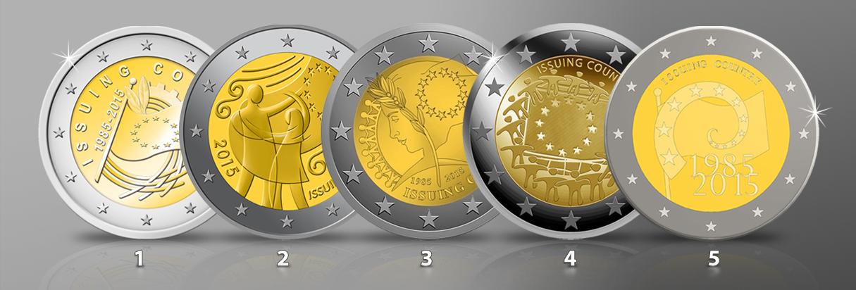 Die 2 Gemeinschaftsausgabe 2015 30 Jahre Europaflagge Als Symbol