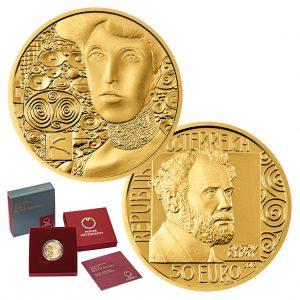 """Österreich 50 Euro 2012 """"Gustav Klimt & Adele Bloch-Bauer I"""", 986er Gold, 10,14g, Ø 22mm, Polierte Platte, Auflage: 30.000"""