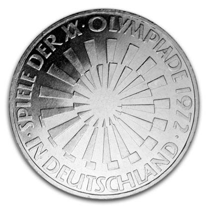 Olympische Spiele Brd 10 Deutsche Mark Gedenkmünzen Zu München 1972
