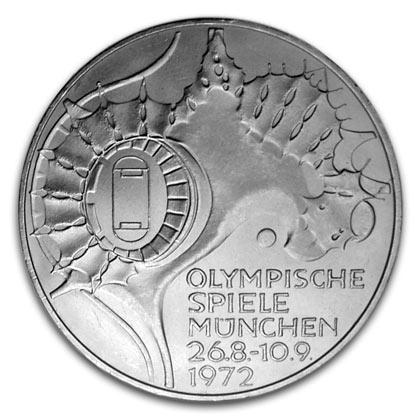 10 Deutsche Mark Münze Olympische Spiele 1972 Wert Ausreise Info